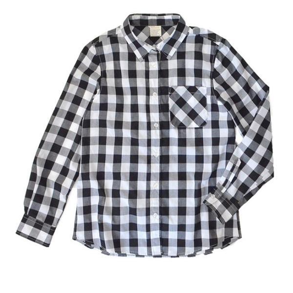 UVカット シャツ ブラウス レディース 長袖 白シャツ ゆったり UV対策 日焼け対策 紫外線 UVカットシャツ チェックシャツ 秋|e-zakkamania|21