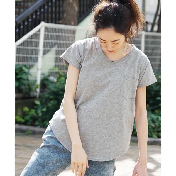 汗しみ防止 Tシャツ レディース 半袖 汗 吸収 脇汗 速乾 UVカット 紫外線対策 綿100% カットソー Vネック 無地 トップス tシャツ|e-zakkamania|19