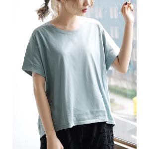Tシャツ レディース 半袖 夏 トップス カットソー 半袖 大きいサイズ 汗しみない Tシャツ[オーバーシルエット]|イーザッカマニアストアーズ