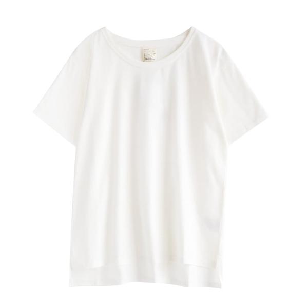 汗しみ防止 Tシャツ レディース 半袖 汗 吸収 速乾 脇汗 綿100% UV対策 カットソー ゆったり 大きいサイズ 無地 トップス|e-zakkamania|19