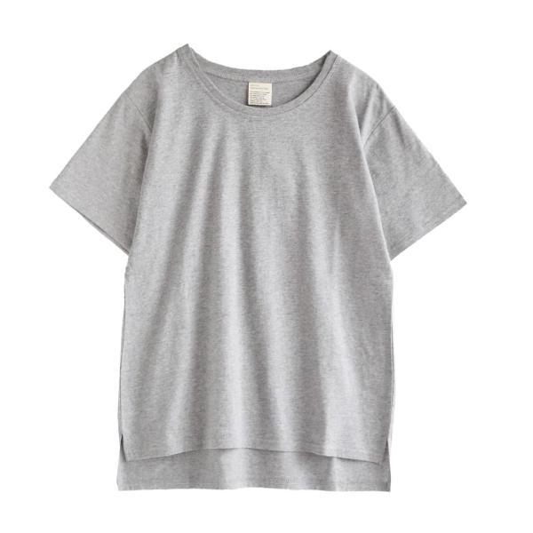 汗しみ防止 Tシャツ レディース 半袖 汗 吸収 速乾 脇汗 綿100% UV対策 カットソー ゆったり 大きいサイズ 無地 トップス|e-zakkamania|20