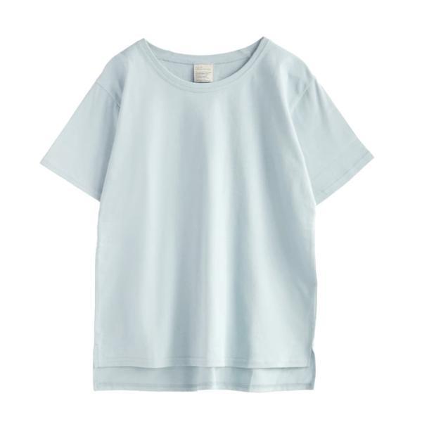汗しみ防止 Tシャツ レディース 半袖 汗 吸収 速乾 脇汗 綿100% UV対策 カットソー ゆったり 大きいサイズ 無地 トップス|e-zakkamania|21