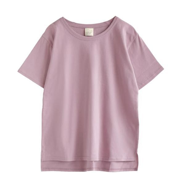 汗しみ防止 Tシャツ レディース 半袖 汗 吸収 速乾 脇汗 綿100% UV対策 カットソー ゆったり 大きいサイズ 無地 トップス|e-zakkamania|22