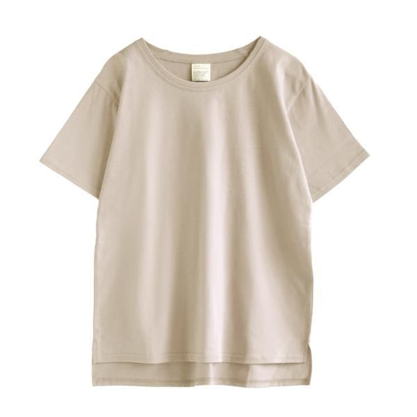 汗しみ防止 Tシャツ レディース 半袖 汗 吸収 速乾 脇汗 綿100% UV対策 カットソー ゆったり 大きいサイズ 無地 トップス|e-zakkamania|23