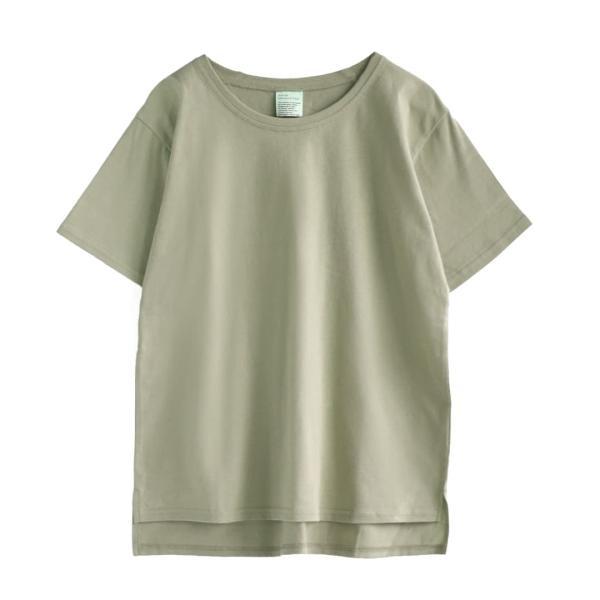 汗しみ防止 Tシャツ レディース 半袖 汗 吸収 速乾 脇汗 綿100% UV対策 カットソー ゆったり 大きいサイズ 無地 トップス|e-zakkamania|24