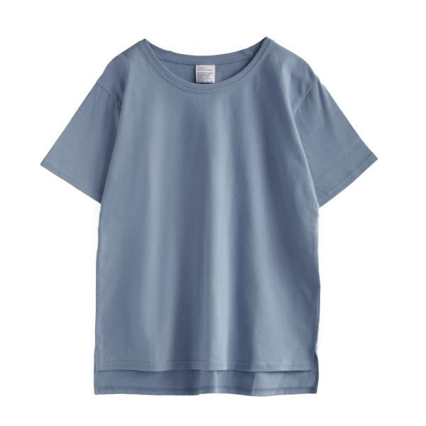 汗しみ防止 Tシャツ レディース 半袖 汗 吸収 速乾 脇汗 綿100% UV対策 カットソー ゆったり 大きいサイズ 無地 トップス|e-zakkamania|25
