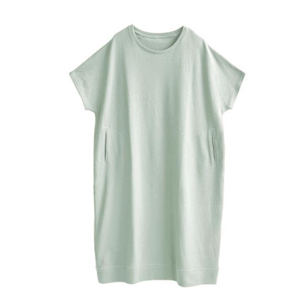 ワンピース レディース ワッフル ワンピース 春 夏 サーマル Tシャツ カットソー 半袖 五分袖 綿100 コットン ドルマン半袖ワンピース|e-zakkamania|25