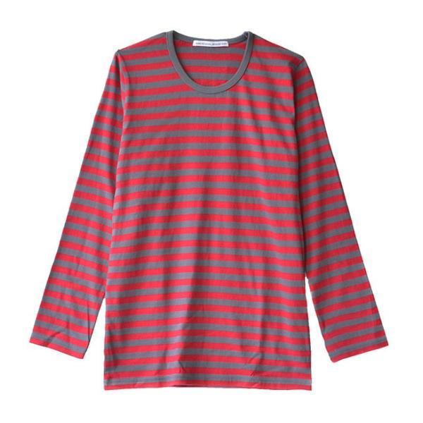 カットソー 長袖 レディース 綿100% 無地 ボーダー ロンT トップス Tシャツ コットン 大きいサイズ ゆったり 丸首 秋 e-zakkamania 25