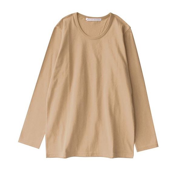 カットソー 長袖 レディース 綿100% 無地 ボーダー ロンT トップス Tシャツ コットン 大きいサイズ ゆったり 丸首 秋 e-zakkamania 33