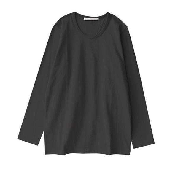 カットソー 長袖 レディース 綿100% 無地 ボーダー ロンT トップス Tシャツ コットン 大きいサイズ ゆったり 丸首 秋 e-zakkamania 35