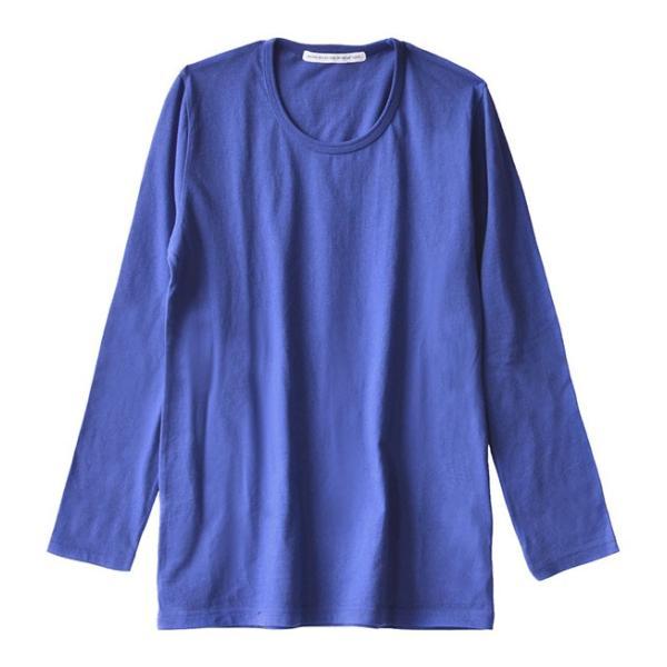 カットソー 長袖 レディース 綿100% 無地 ボーダー ロンT トップス Tシャツ コットン 大きいサイズ ゆったり 丸首 秋 e-zakkamania 28