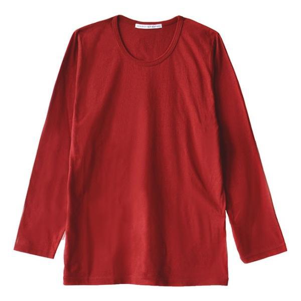カットソー 長袖 レディース 綿100% 無地 ボーダー ロンT トップス Tシャツ コットン 大きいサイズ ゆったり 丸首 秋 e-zakkamania 29
