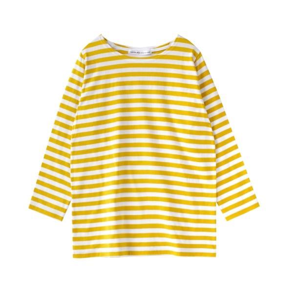 カットソー レディース 秋服 綿100% ロンT 七分袖 Tシャツ トップス コットン ボーダー 無地 大きいサイズ ゆったり ボートネック 秋|e-zakkamania|30