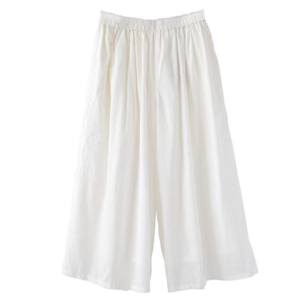 ガウチョ 春 夏 綿100 レディース ボトムス パンツ ズボン ガウチョパンツ ワイドパンツ スカーチョ ロング ゆったり コットン インドコットン|e-zakkamania|20