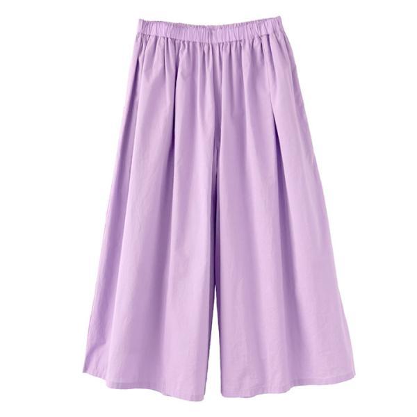 ガウチョ 春 夏 綿100 レディース ボトムス パンツ ズボン ガウチョパンツ ワイドパンツ スカーチョ ロング ゆったり コットン インドコットン|e-zakkamania|21
