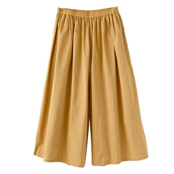 ガウチョ 春 夏 綿100 レディース ボトムス パンツ ズボン ガウチョパンツ ワイドパンツ スカーチョ ロング ゆったり コットン インドコットン|e-zakkamania|22