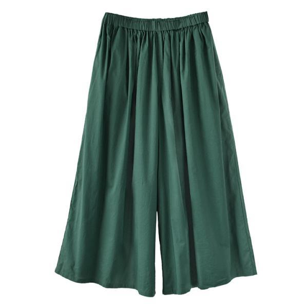 ガウチョ 春 夏 綿100 レディース ボトムス パンツ ズボン ガウチョパンツ ワイドパンツ スカーチョ ロング ゆったり コットン インドコットン|e-zakkamania|23