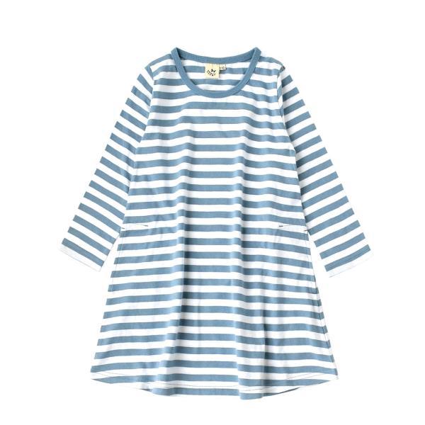 ワンピース キッズ ワンピ 長袖 綿100% 女の子 子供服 お揃い Aライン カットソー コットン ボーダー|e-zakkamania|26