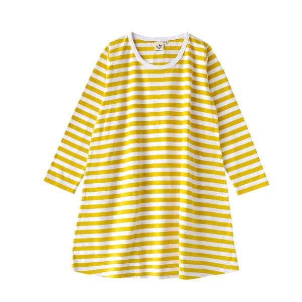 ワンピース キッズ ワンピ 長袖 綿100% 女の子 子供服 お揃い Aライン カットソー コットン ボーダー|e-zakkamania|33