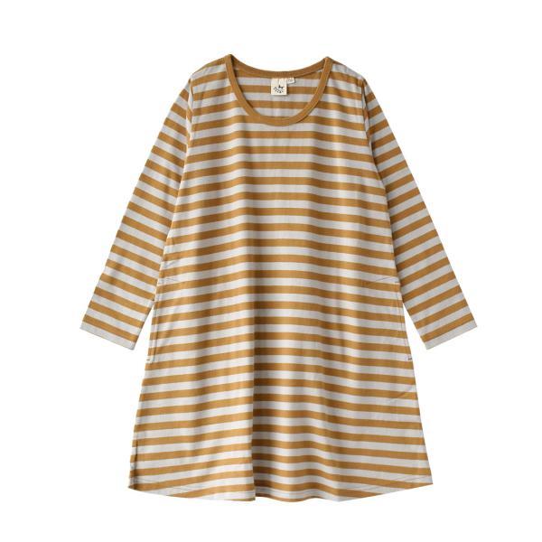 ワンピース キッズ ワンピ 長袖 綿100% 女の子 子供服 お揃い Aライン カットソー コットン ボーダー|e-zakkamania|35