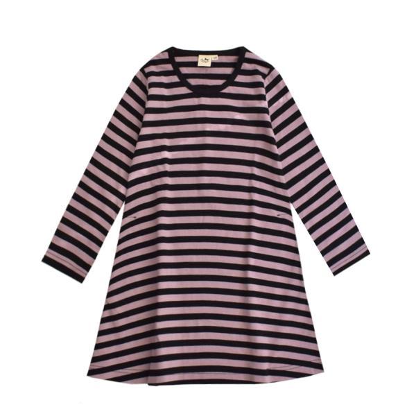 ワンピース キッズ ワンピ 長袖 綿100% 女の子 子供服 お揃い Aライン カットソー コットン ボーダー|e-zakkamania|20