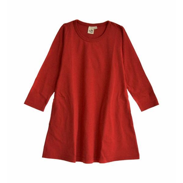 ワンピース キッズ ワンピ 長袖 綿100% 女の子 子供服 お揃い Aライン カットソー コットン ボーダー|e-zakkamania|29