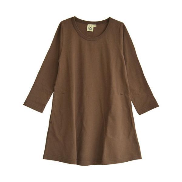 ワンピース キッズ ワンピ 長袖 綿100% 女の子 子供服 お揃い Aライン カットソー コットン ボーダー|e-zakkamania|30