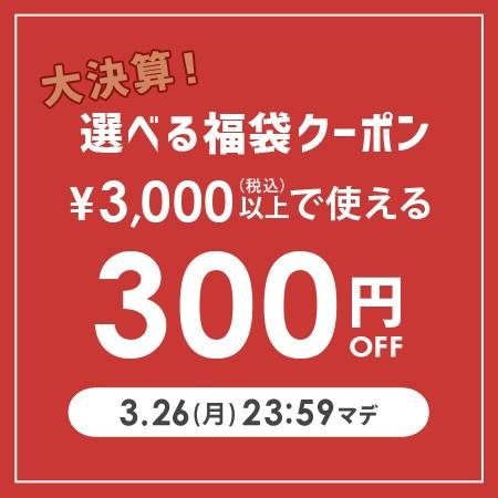 商品合計3,000円以上で300円OFF【3/26(月) 23:59まで】