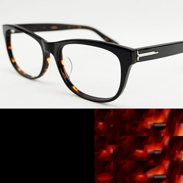 大きいフレーム 大きめサイズのメンズ眼鏡 度付きメガネ ダテめがね おしゃれなウェリントン 大きい顔向き Z8432|e-zone|24