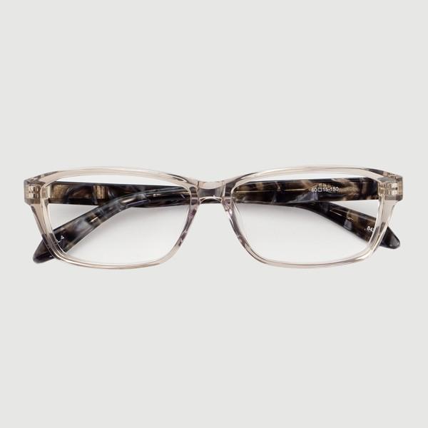 大きいフレーム 60サイズ 大きめサイズのメンズスクエア 度付きメガネ ダテめがね 大きい顔向き z8434|e-zone|21
