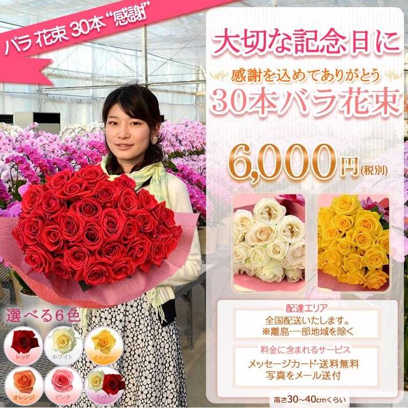 バラ花束30本