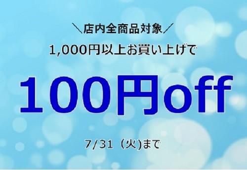 \1,000円以上のお買い上げて100円OFF/