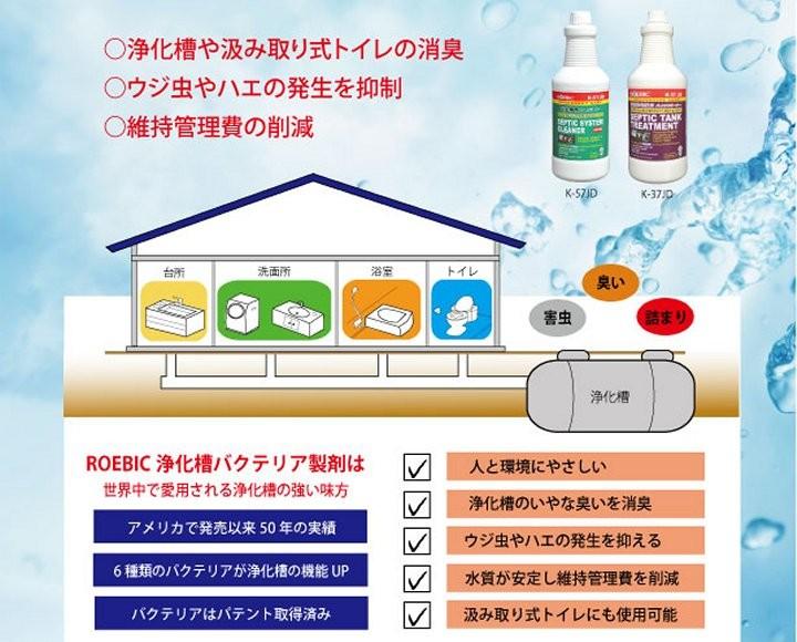 浄化槽(合併浄化槽・単独浄化槽)のトラブルをバクテリアが解決します!