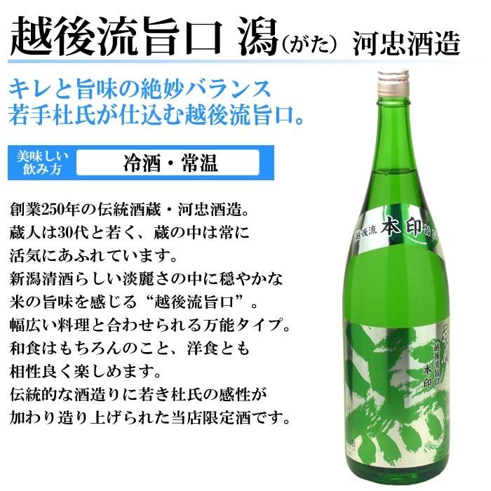 日本酒 越後流旨口 潟本醸造