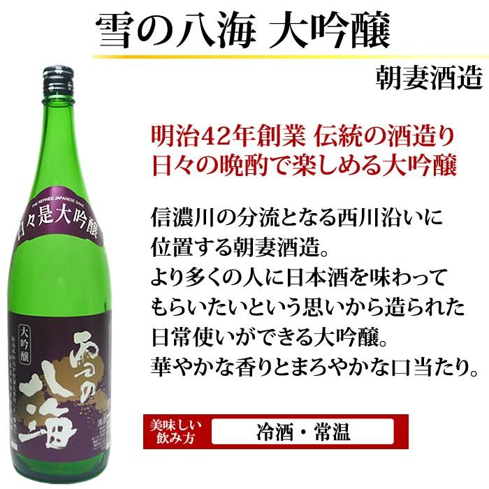 日本酒 大吟醸 雪の八海