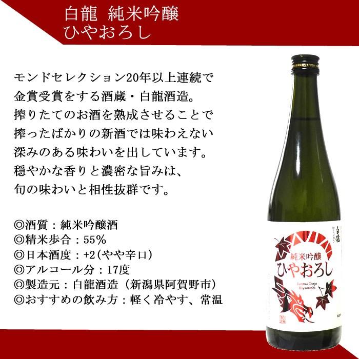 日本酒 ひやおろし 白龍