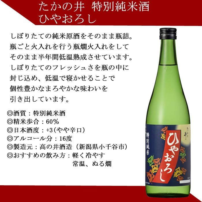 日本酒 ひやおろし たかの井