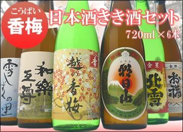 (香梅)日本酒セット720ml(送料無料)