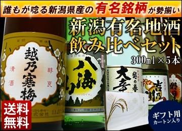 越乃寒梅、八海山入り有名酒セット