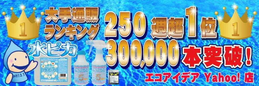 ランキング250週第1位 水ピカ 30万個突破♪
