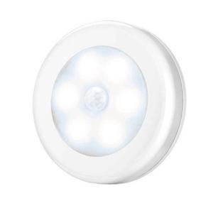 センサーライト 屋内 LED 照明 人感センサー 暖色 寒色  電池式 マグネット着脱式 丸型 小型 フットライト ナイトライト (ネコポス送料無料) ecojiji 12