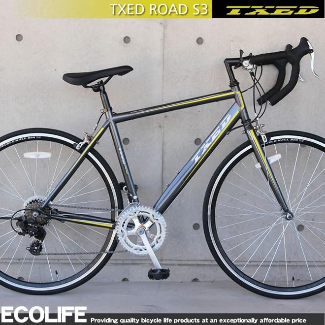 ロードバイク  自転車 700C シマノ14段変速 自転車 TXED ROAD S3 送料無料