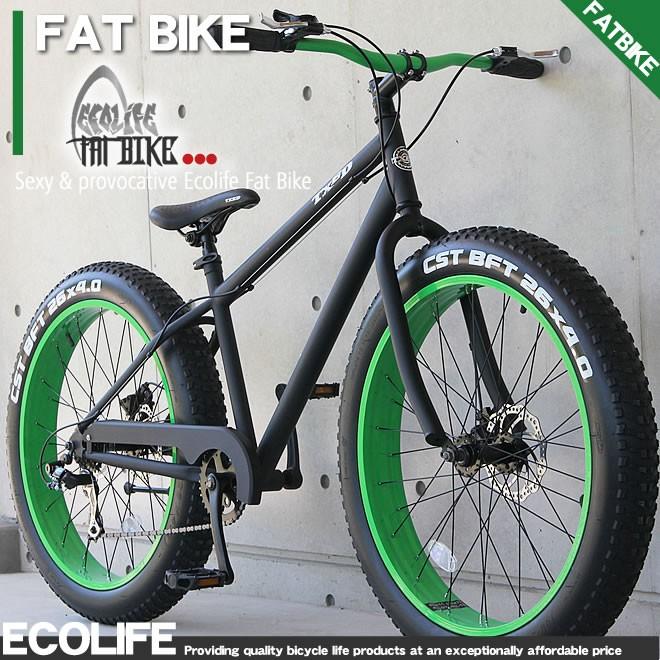 ファットバイク ビーチクルーザー  自転車 26インチ シマノ7段変速 自転車 TXED FATBIKE 送料無料