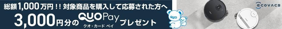 QUOカードPAY3,000円還元キャンペーン