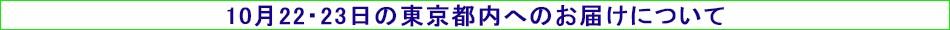 【10月22・23日の東京都内へのお届けについて】