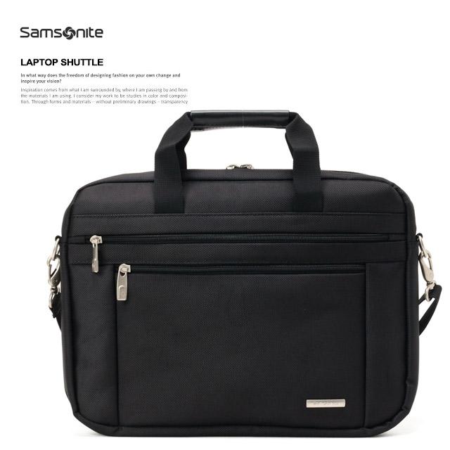 サムソナイトSamsoniteビジネスバッグブリーフケースLAPTOPSHUTTLE43271-1041BLACK モデルイメージ
