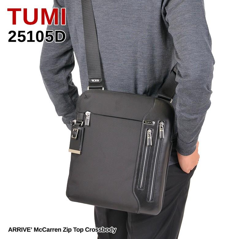 トゥミTUMI25105DARRIVE'McCarrenZipTopCrossbodyショルダーバッグメッセンジャーバッグBlackブラック モデルイメージ