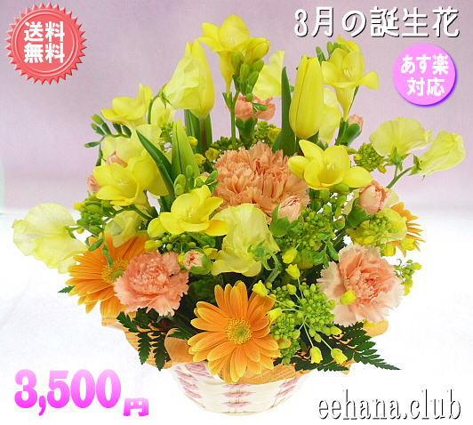 3月の誕生花 オレンジアレンジ