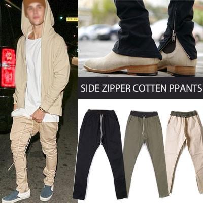 Side zipup pants