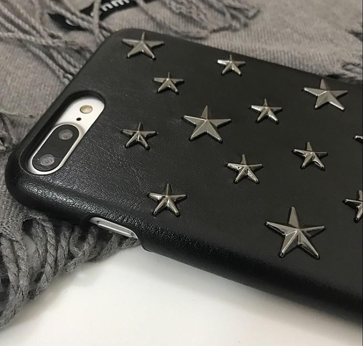 23bf67b341 星型スタッズアイフォンケース スマホケース iPhone6 iphone6s iphone7iPhone8 スマホカバー レザー調 ハードケース 星  /【Buyee】